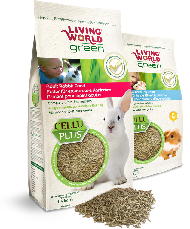 Living World Green Extruded food