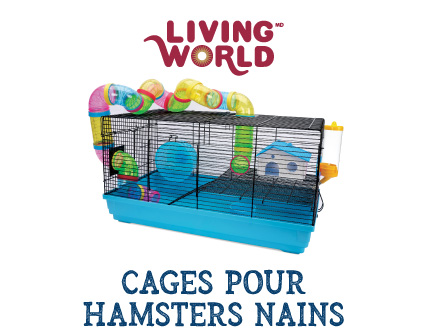 Cage Living World pour hamsters nains