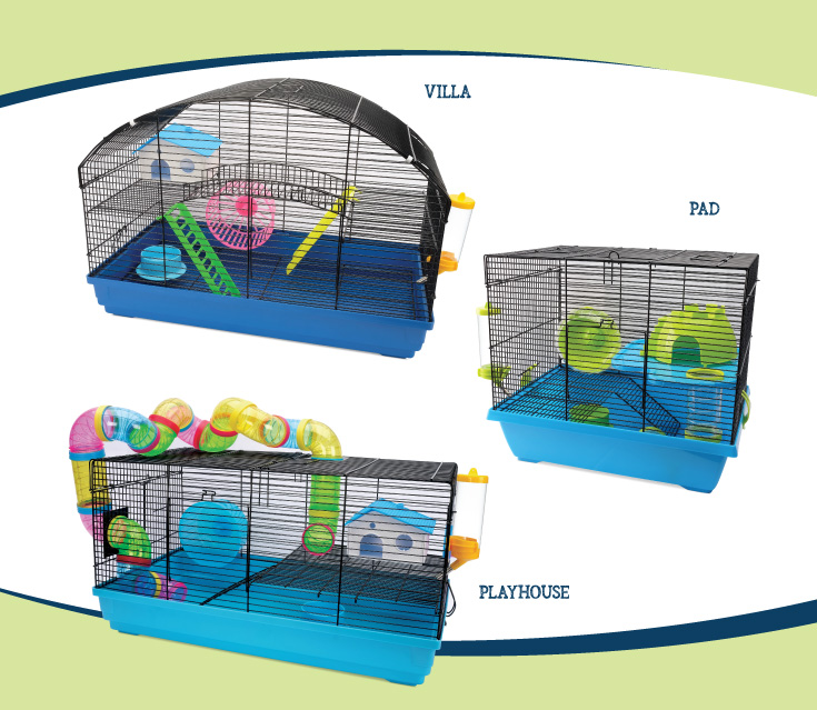 Cage Living World pour hamsters nainss - Villa, Pad, Playhouse