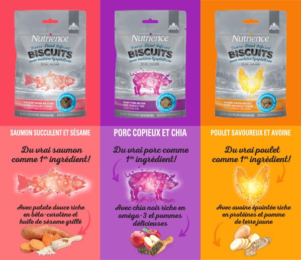 les Biscuits séchés à froid Nutrience Infusion