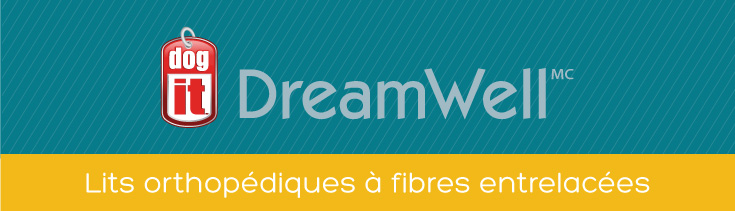 Dogit Dreamwell: Lits orthopédiques à fibres entrelacées