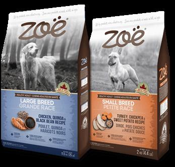 Aliments Zoë pour chiens
