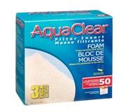 Blocs de mousse filtrante pour AquaClear 50/200, paquet de 3