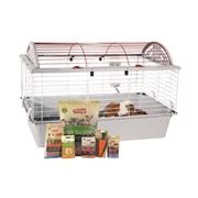 Cage équipée de luxe Living World pour cochon d'Inde, L.78 x l.48 x H. 50 cm (30,7 x 18,9 x 19,7 po)
