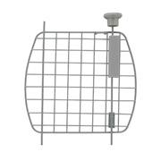 Porte grillagée en métal avec bouton d'ouverture argenté pour cages de transport Voyageur Dogit et Catit, petite