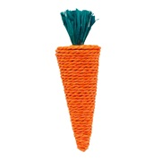 Jouet à gruger Nibblers Living World en feuilles d'épi de maïs et en raphia, carotte