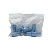 Charnières en plastique pour côté gauche des cages Pet Voyageur Dogit, modèles 100 à 400, bleu opalescent, paquet de 8