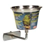 Auget Living World en acier inoxydable pour perroquets, petit, 360ml (12oz)