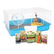 Cage équipée Living World pour hamster, L.46 x l. 29 x H. 23 cm (18 x 11,4 x 9 po)