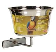 Auget Living World en acier inoxydable pour perroquets, grand, 960ml (32 oz)