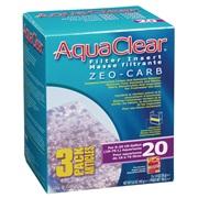 Masse filtrante Zeo-Carb pour filtre AquaClear 20/Mini, 165g (5,8oz), paquet de 3
