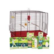 Cage équipée de luxe Living World pour perruches ondulées, 50 x 30 x 48 cm (19,7 x 11,8 x 18,9 po)