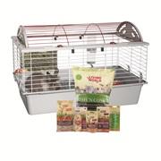 Cage équipée de luxe Living World pour lapin, moyenne,  L. 78 x l. 48 x H. 50 cm (30,7 x 18,9 x 19,7 po)