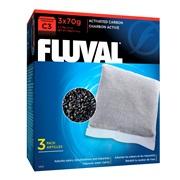 Charbon activé pour filtre à moteur Fluval C3, paquet de 3