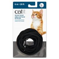Câble d'attache en nylon Catit, noir, 6m (20pi)