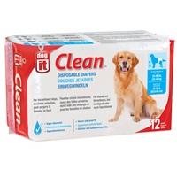 Couches jetables Dogit Clean, très grandes, paquet de 12