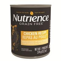 Pâté Nutrience SubZero Sans grains pour chiens, Repas au poulet, 374g