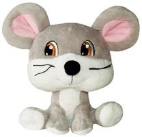 Jouet Luvz Dogit en peluche, souris grise, 15cm (6po)