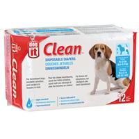 Couches jetables Dogit Clean, moyennes, paquet de 12