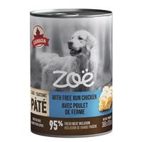 Pâté Zoë avec poulet de ferme pour chiens, 369 g (13 oz)