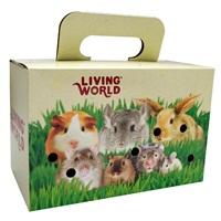 Boîte de transport Living World pour petits animaux, 28 x 15 x 18 cm (11 x 6 x 7 po)