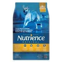 Aliment Nutrience Original, Adultes de race moyenne, Poulet et riz brun, 2,5 kg (5,5 lb)