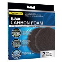Blocs de mousse imprégnée de charbon FX Fluval, paquet de 2