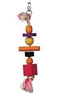 Corde Junglewood Living World avec 3 boules, 2 blocs, 1 cylindre et 1 cheville, 10 x 27 cm (4 x 11 po)