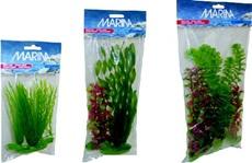 Assortiment de plantes AquaScaper Marina en plastique, 1 vallisnérie spiralée (12,5cm) et 2 deschampsies (12,5 et 20cm)