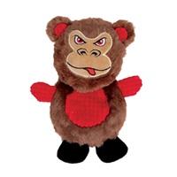 Jouet Stuffies Dogit pour chiens, peluche aplatie, singe, 19cm (7,5po)