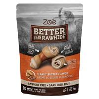 Os Better than Rawhide Zoë, mini, beurre d'arachide, 234g (8,2oz), paquet de10