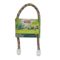 Perchoir Knot-A-Rope Living World en coton, multicolore, diam. 16 mm, long. 65 cm