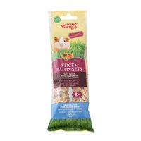 Bâtonnets Living World pour cochons d'Inde, saveur de fruits, 112 g (4 oz), paquet de 2