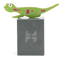 Gecko plaqué or 10 carats, 2011