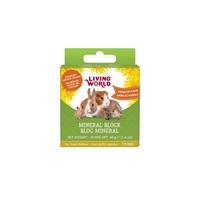 Bloc minéral Living World pour petits animaux, arôme de pissenlit, petit, 40 g (1,4 oz)