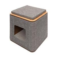 Meuble Cubo Catit Vesper, gris, 42,5 x 42,5 x 47,5 cm (17 x 17 x 19po)