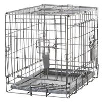 Cage grillagée Dogit à 2 portes avec grille de séparation, très petite, 46,5 x 31 x 37 cm (18,2 x 12 x 14,5 po)