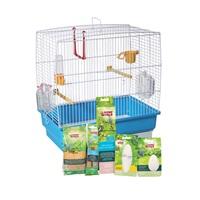 Cage équipée Living World pour perruches ondulées, 40 x 25 x 41 cm (15,75 x 9,8 x 16 po)