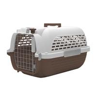Cage Voyageur Dogit pour chiens, blanc et brun, très grande, L.68,4xl.47,6xH.43,8cm (26,9x18,7x17po)