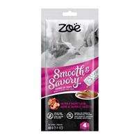 Régals à lécher Smooth & Savory Zoë pour chats, Saumon et crevettes, paquet de 4
