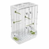 Cage Vision pour oiseaux de taille moyenne, modèle M02, haute, grillage étroit, 62,5 x 39,5 x 87 cm (24,6 x 15,6 x 34,25 po)