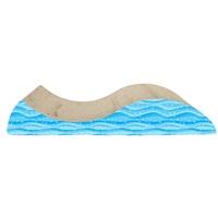 Griffoir Cat Love en forme de vague avec herbe à chat, 49 x 21 x 8,5cm (19,2 x 8,2 x 3,3po)