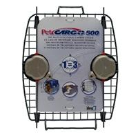 Porte avant en métal avec 2verrous pour cage de transport CargoDogitDesign, modèle500