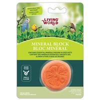 Bloc minéral Living World en forme d'orange pour oiseaux, 41g (1,5oz)