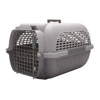 Cage Voyageur Dogit pour chiens, base anthracite avec dessus gris pâle, très grande, L.68,4xl.47,6xH.43,8cm (26,9x18,7x17po)