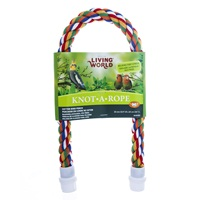 Perchoir Knot-A-Rope Living World en coton, multicolore, diam. 20 mm, long. 65 cm