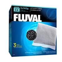 Charbon activé pour filtre à moteur Fluval C4, paquet de 3