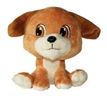 Jouet Luvz Dogit en peluche, chien brun, 15cm (6po)