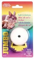 Gros bloc de sel à lécher Living World pour petits animaux, avec support en plastique, 77g (2,7oz)