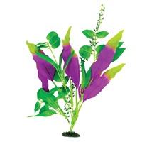 Plante-épée Naturals Marina en soie, indigo et vert, grande, 33-35,5cm (13-14po)